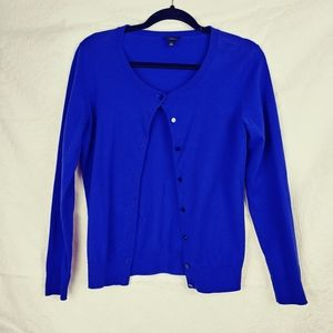 Talbots royal blue button down SP sweater Pima